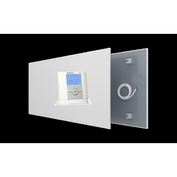 Qurrent Actie Ecaros 800 Watt wit metalen paneel + programmeerbare thermostaat + ontvanger