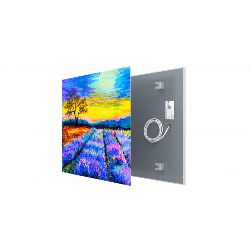 Welltherm canvas print 330 Watt metal panel