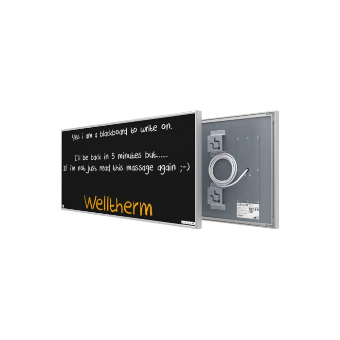 Welltherm 360 Watt chalkboard panel with frame