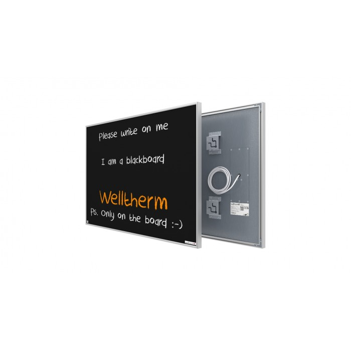 Welltherm 580 Watt chalkboard panel with frame