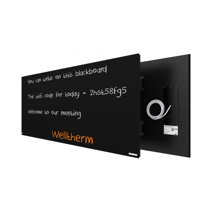 Welltherm 930 Watt chalkboard panel frameless