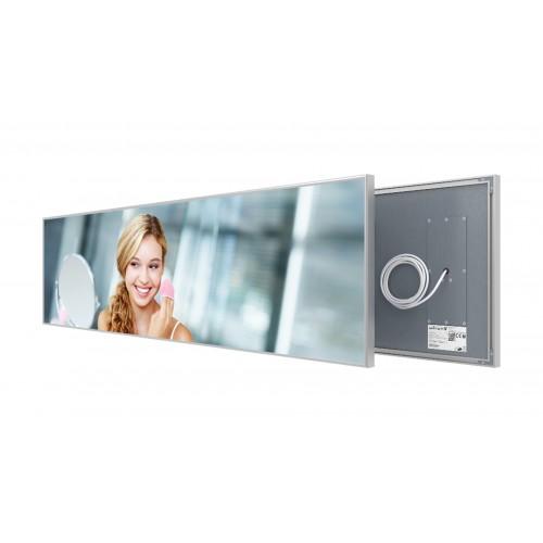 Welltherm 625 Watt Mirror panel with frame