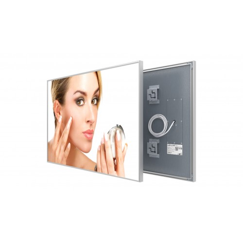 Welltherm 580 Watt Mirror panel with frame