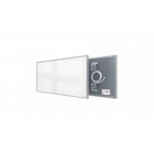 Welltherm 360 Watt white glass panel with frame