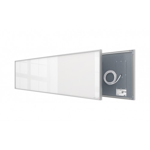Welltherm 625 Watt white glass panel with frame