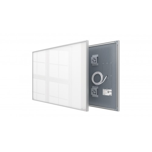 Welltherm 580 Watt white glass panel with frame