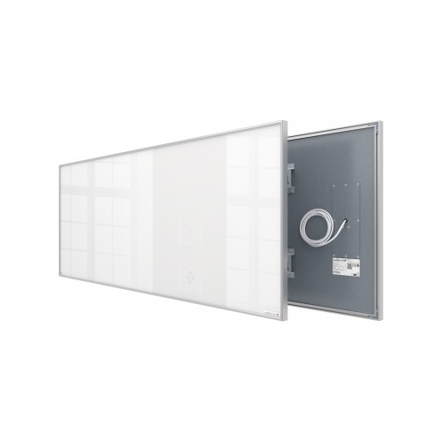 Welltherm 930 Watt white glass panel with frame