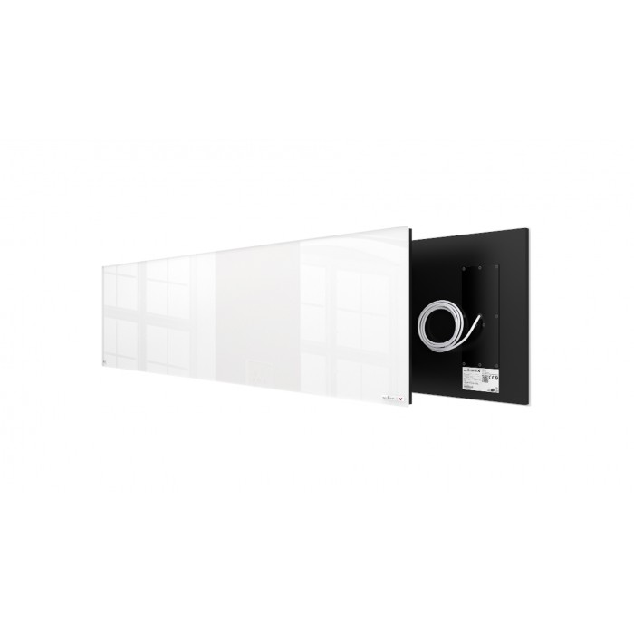 Welltherm 625 Watt white glass panel  frameless