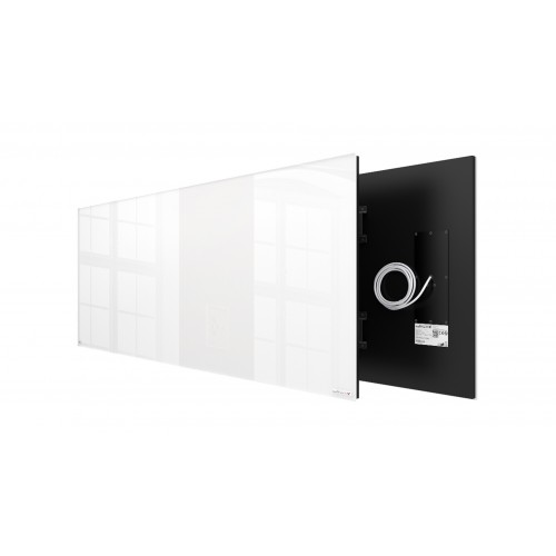 Welltherm 1250 Watt white glass panel  frameless