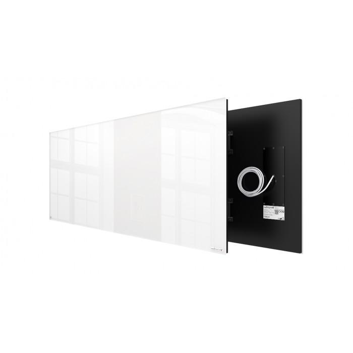 Welltherm 1250 Watt white glass panel  frameless
